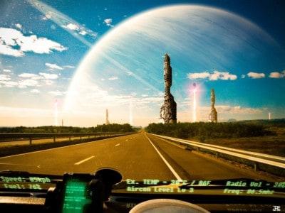 Driving out from SinJin on Epsilon Indi 2 D  © julian39 Artist link & info http://julian-faylona.deviantart.com/?rnrd=2772