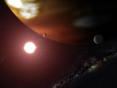 Artist's concept of Gliese 876 b